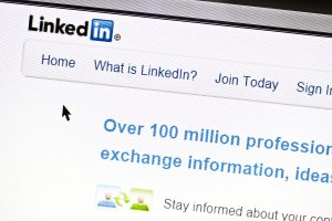 Ostersund, Sweden - July 24, 2011:Close up of Linkedin's main page on a web browser. Linkedin is a business oriented social networking site.