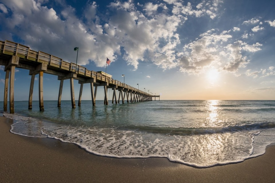 The Venice Fishing Pier at sunset. [PHOTO / COURTESY CITY OF VENICE]